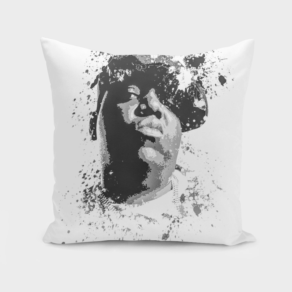 Notorious B.I.G splatter painting