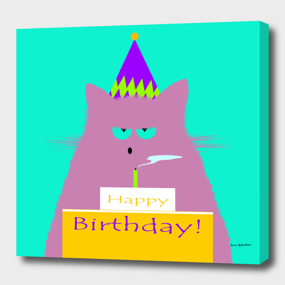 Birthday Lilac Cat