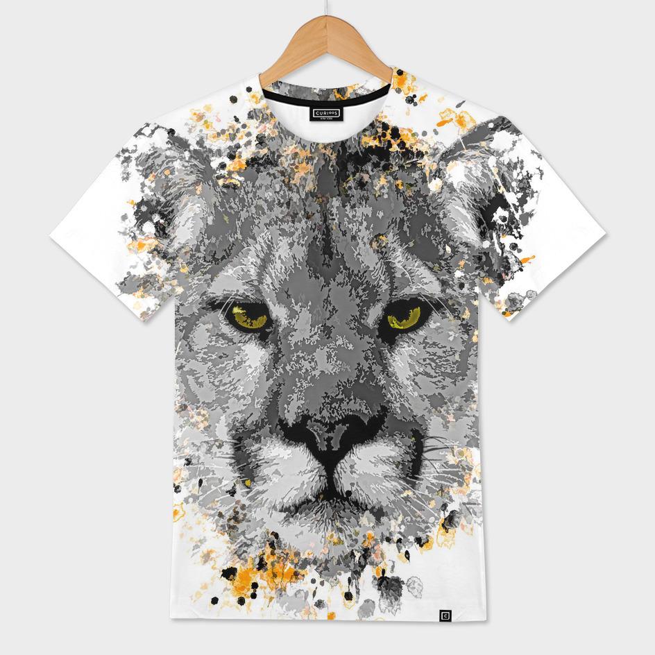 Puma splatter painting