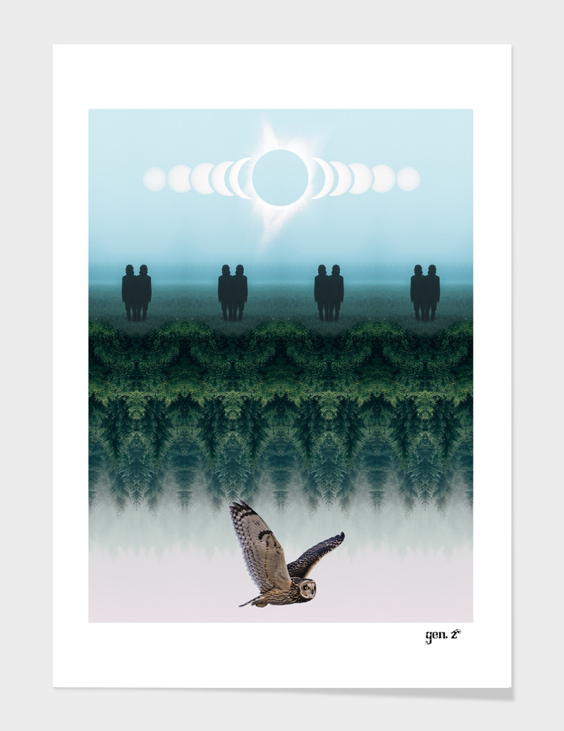 Fourth Dimension Owl by GEN Z