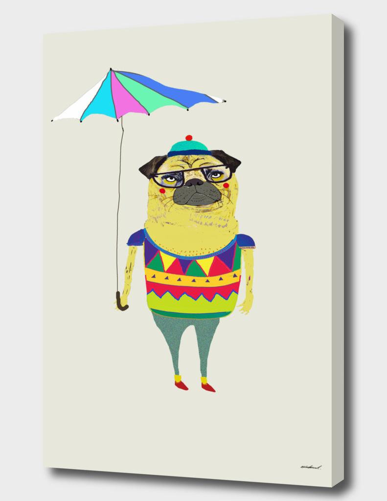 Pug Umbrella