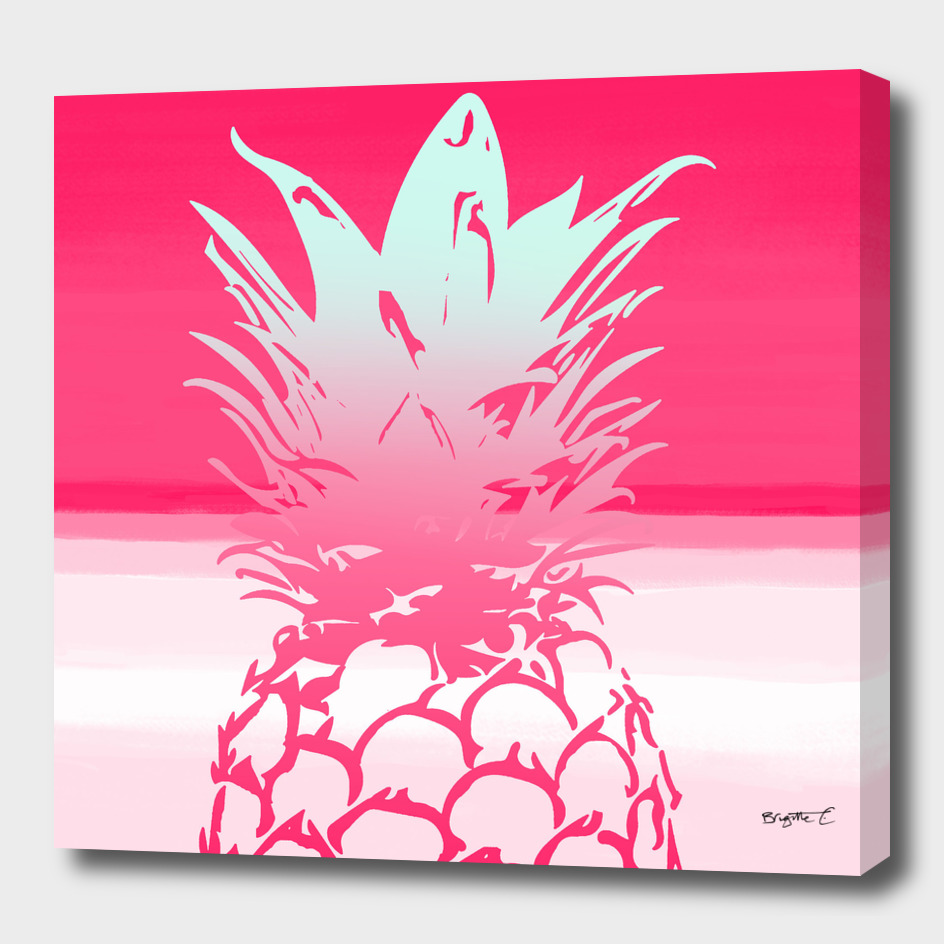 Pink Pineapple Tropical Beach Design