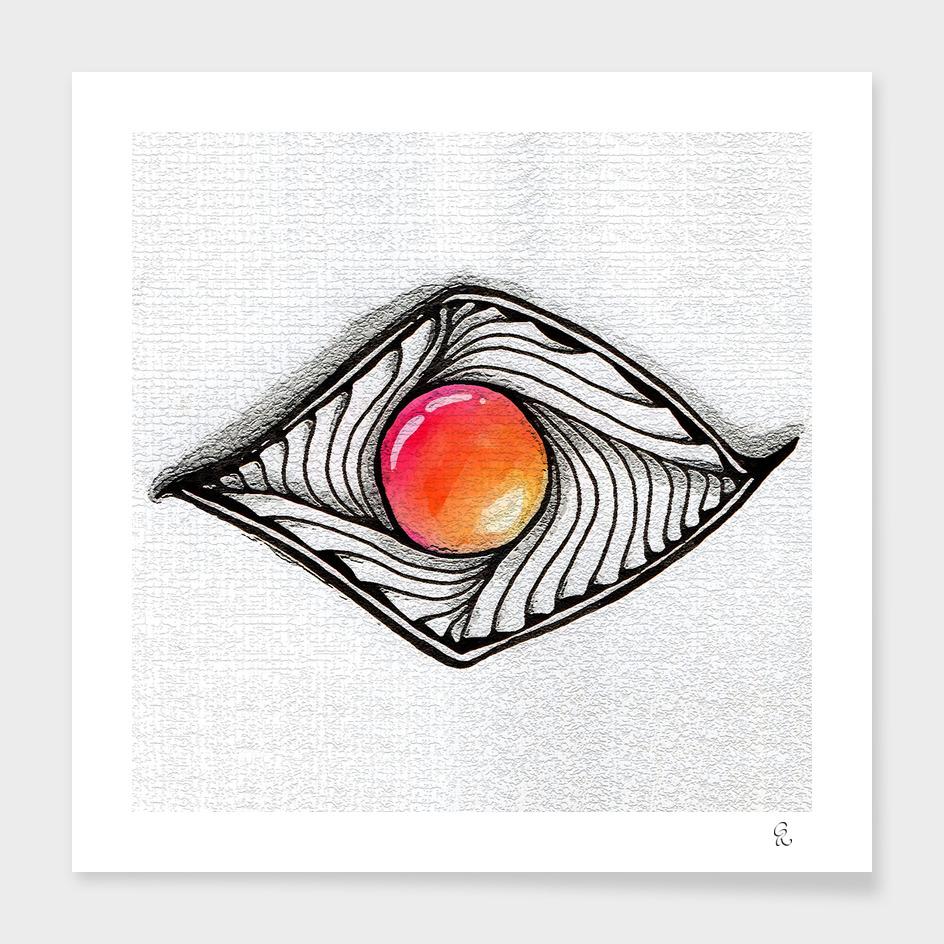 Doodled Gem Sparkle Eye
