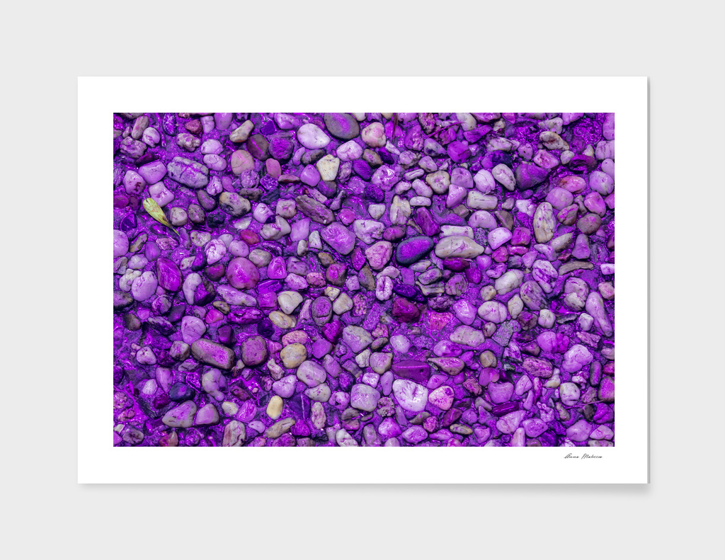 Background Texture Ultraviolet Sea Pebbles Close-up
