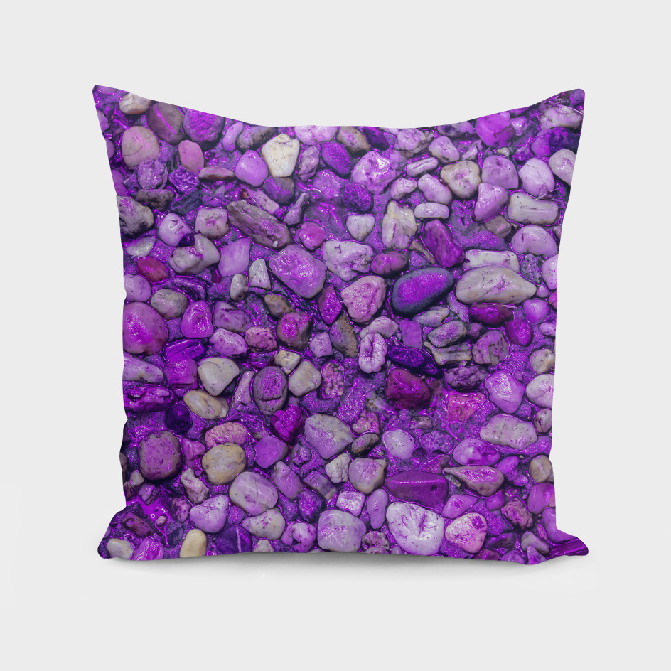 Background Texture Ultraviolet Sea Pebbles Close-up