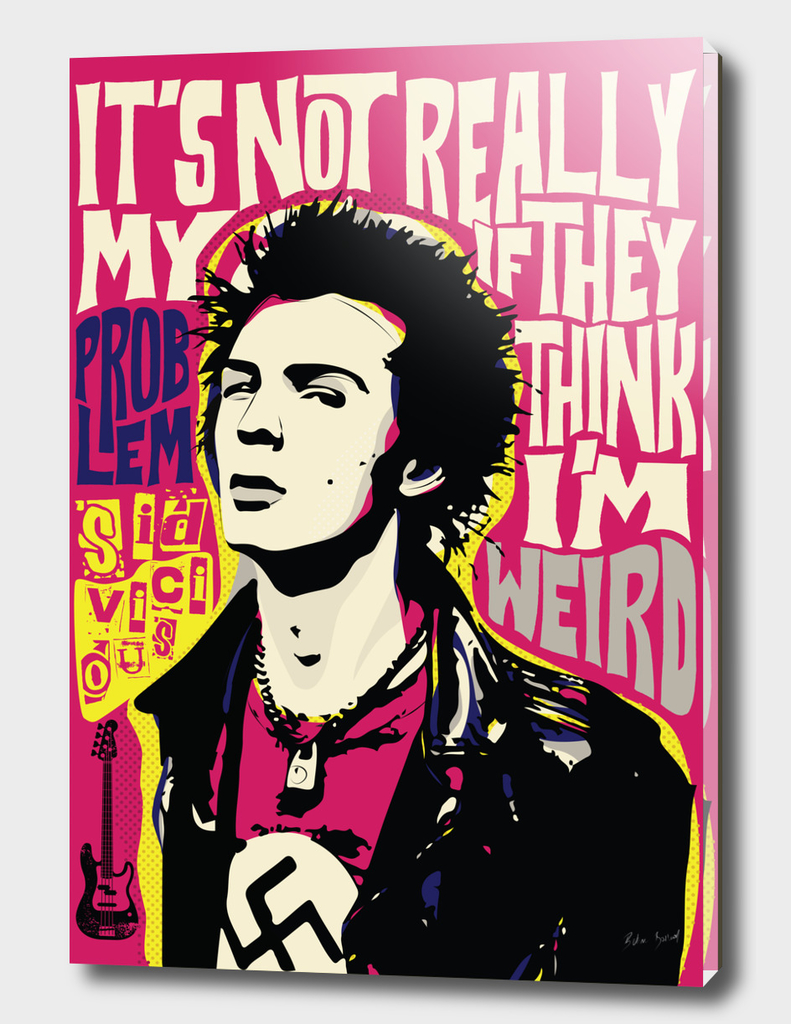 Sid Vicious Pop Art Quote Punk Portrait