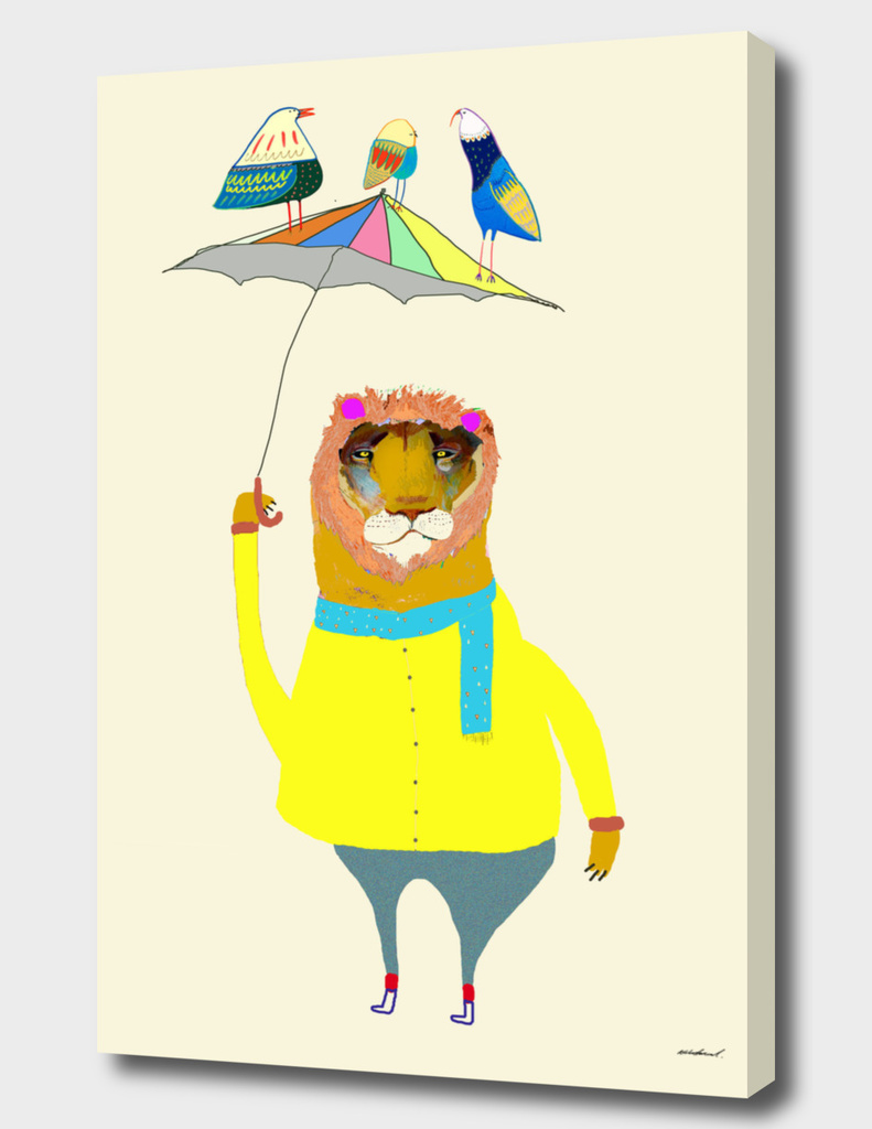 Lion With Umbrella