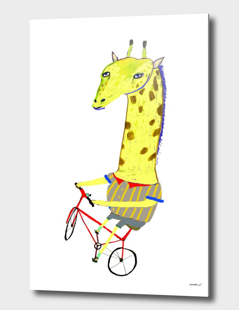 Giraffe Biker