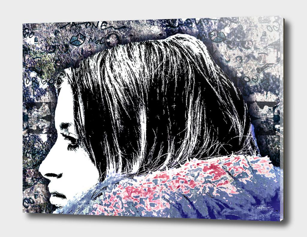 Grunge Graffiti Style Women Poster