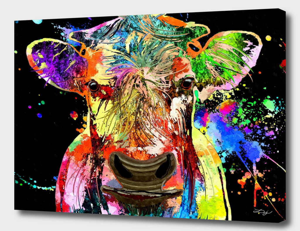 Cow Portrait Grunge
