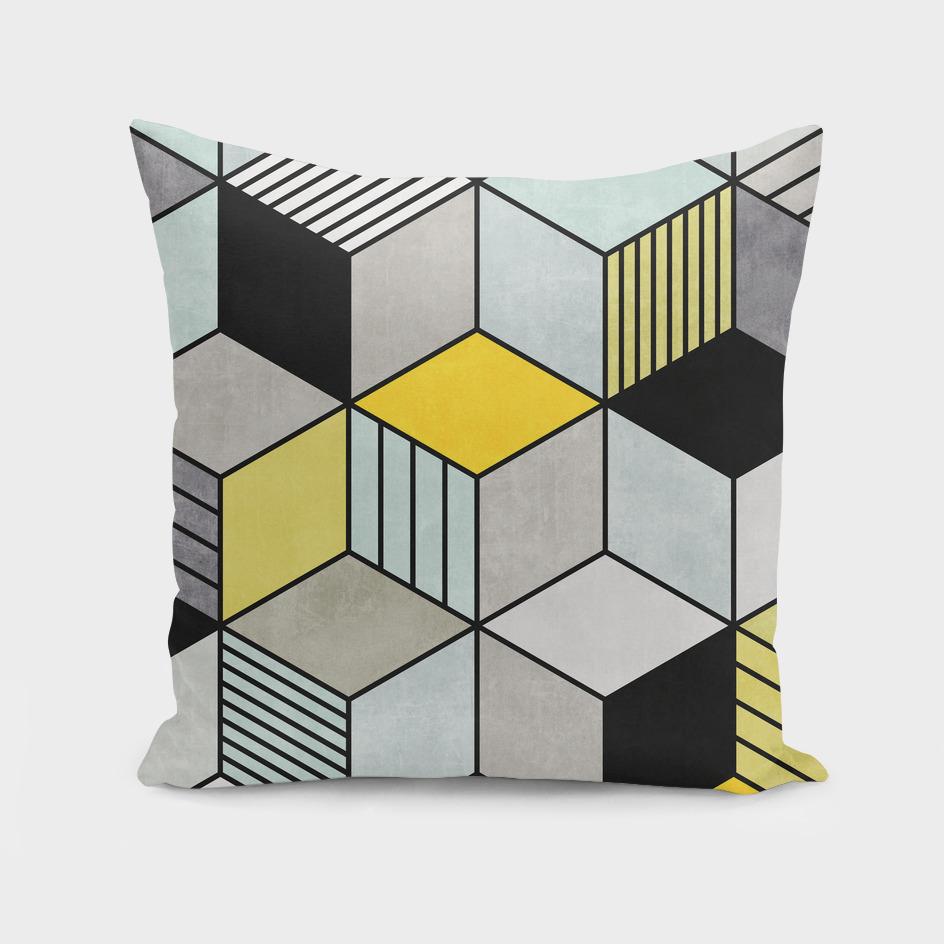 Colorful Concrete Cubes 2 - Yellow, Blue, Grey