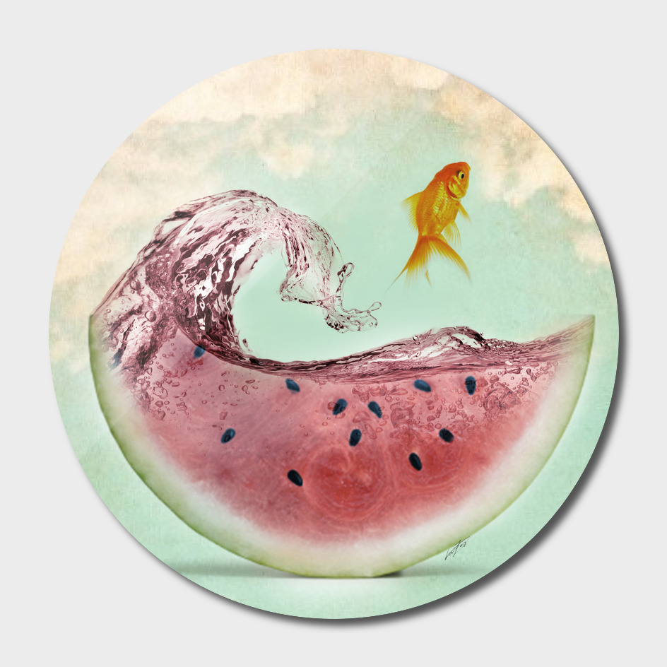 watermelon goldfish