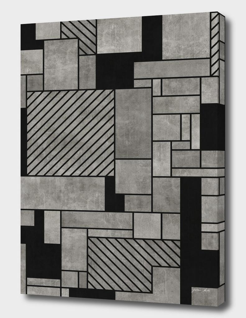 Random Concrete Pattern