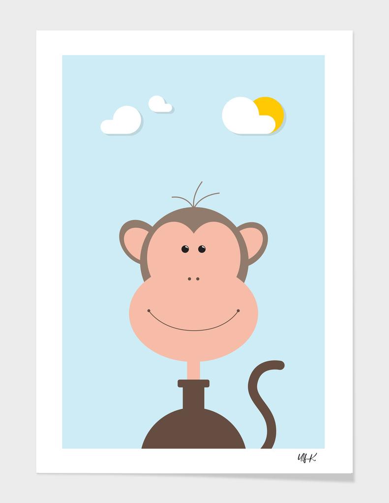 Monkey • Colorful Illustration