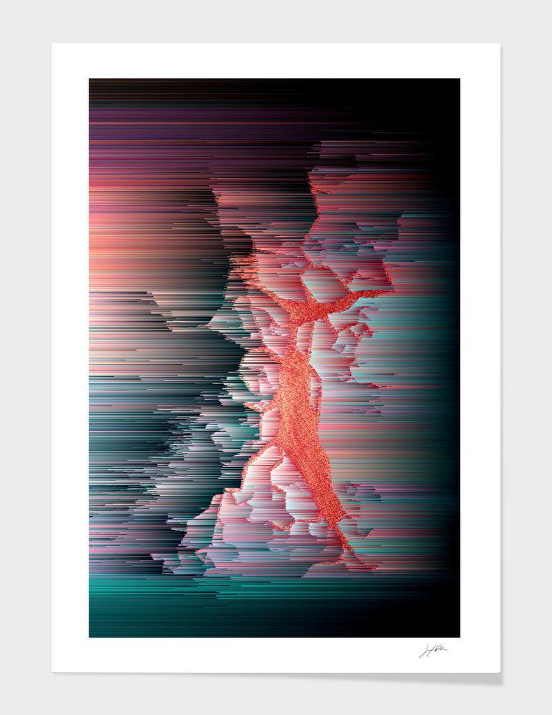 Glitched Out - Abstract Pixel Art