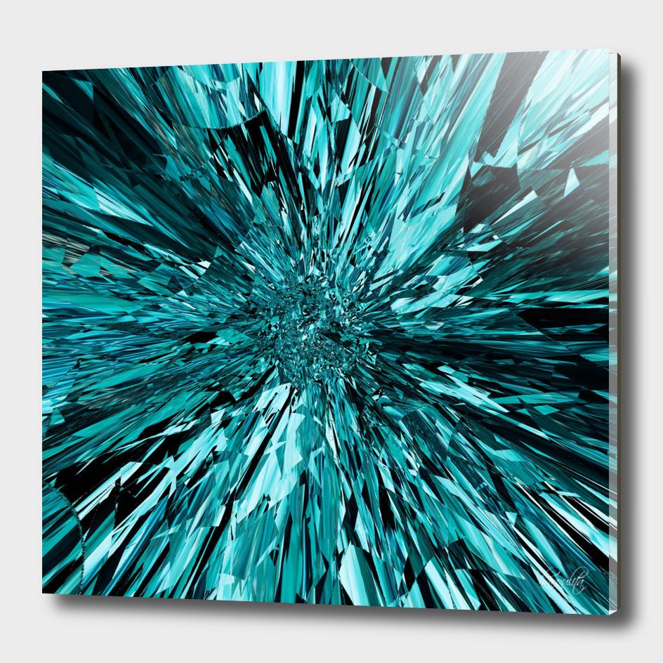 broken glass sea