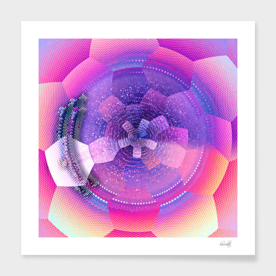 abstract pink art