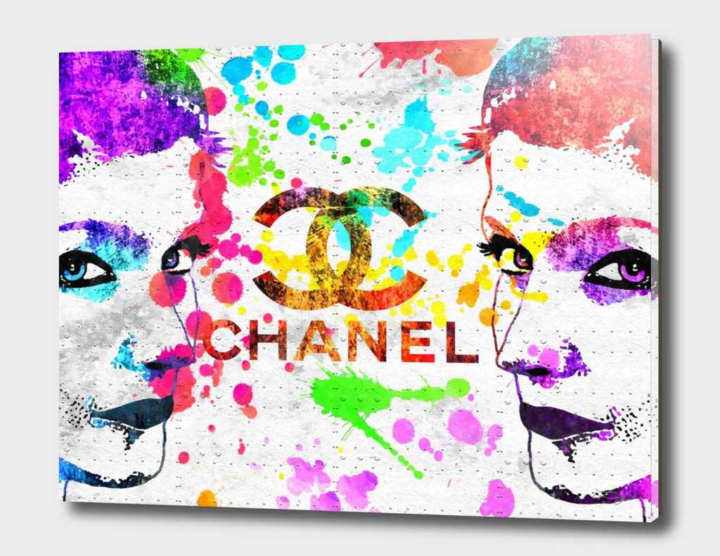 Coco Chanel Poster Grunge