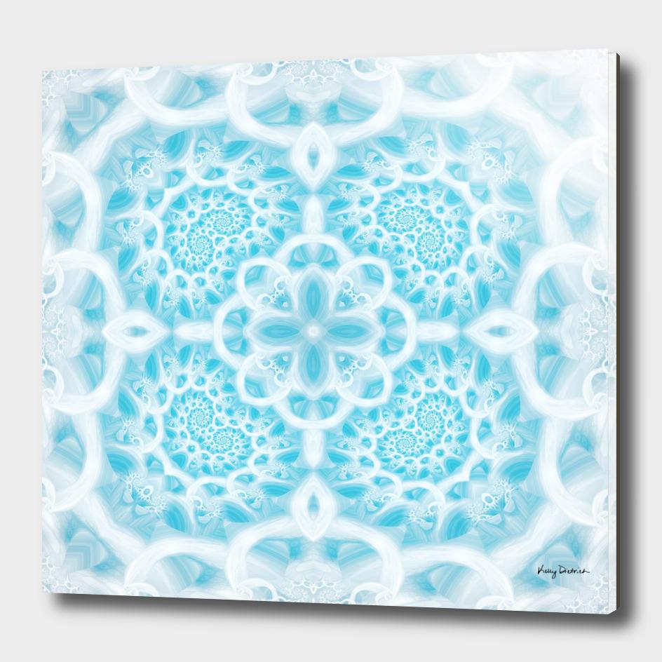 Blue Square Mandala