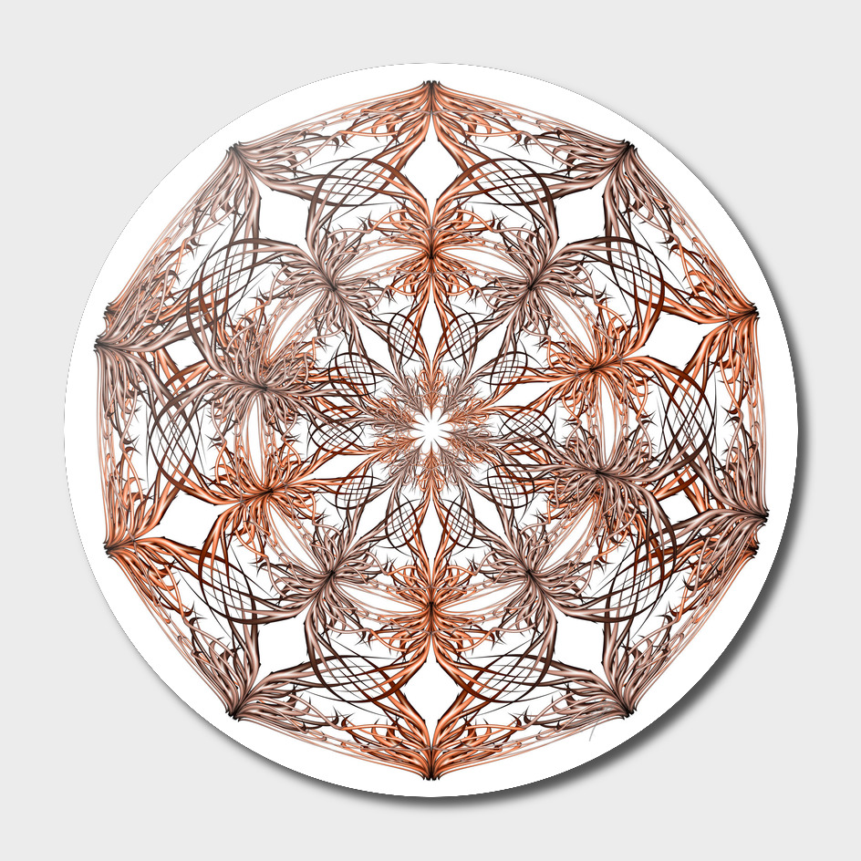 Mandala beige and orange