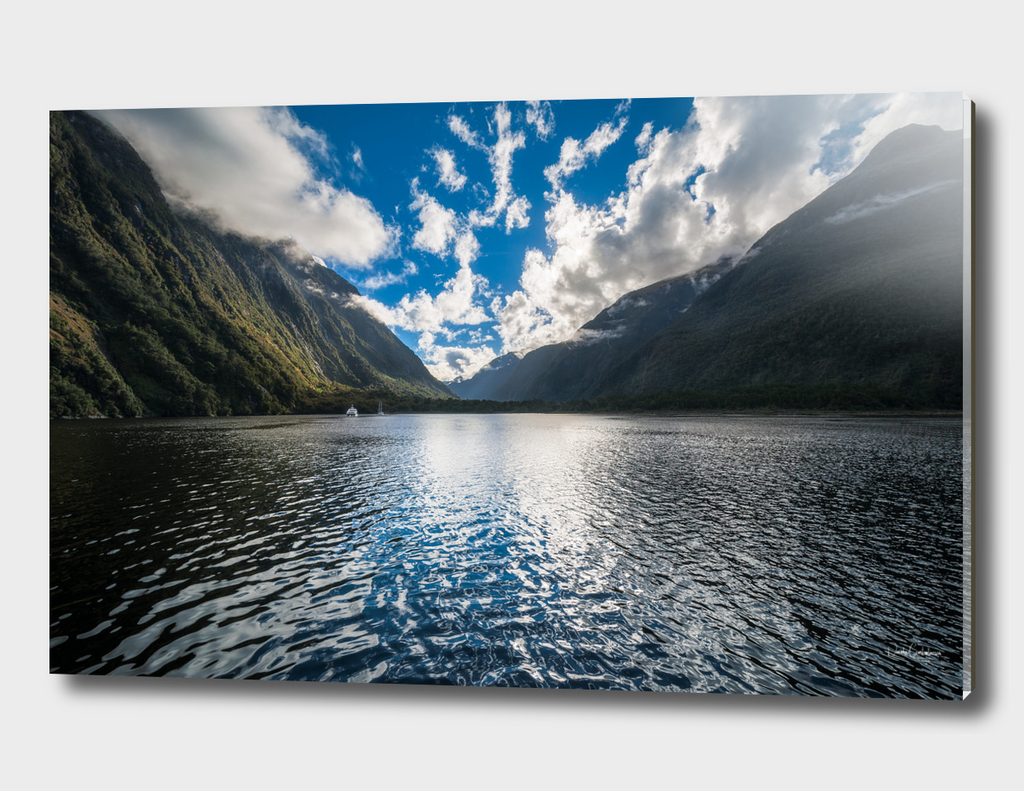 Dramatic clouds in the morning at Milford Sound