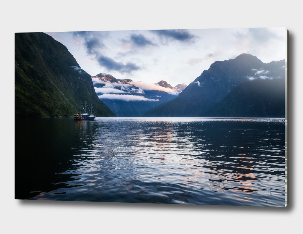 Milford Sound over night cruise at beautiful Harrison Cove