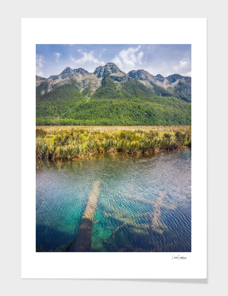 Mirror Lake View in Fiordland National Park