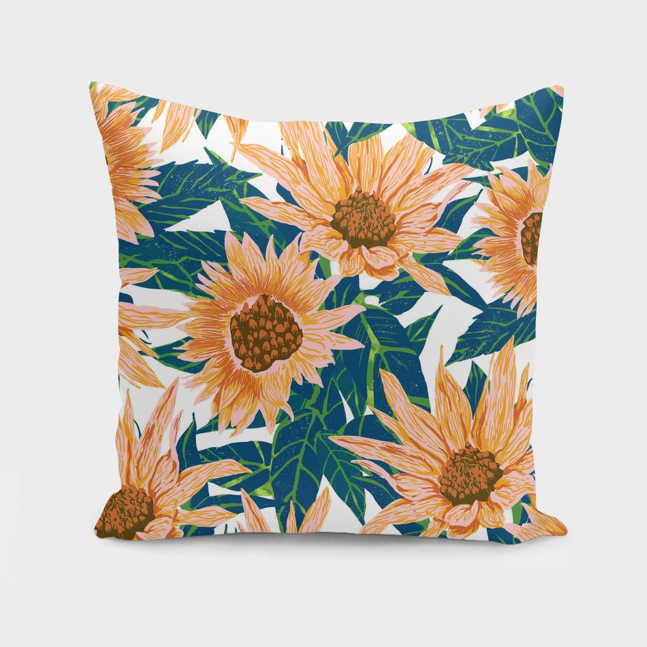 Blush Sunflowers-art-print