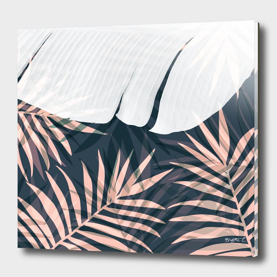 Elegant Palm Trees Foliage Design