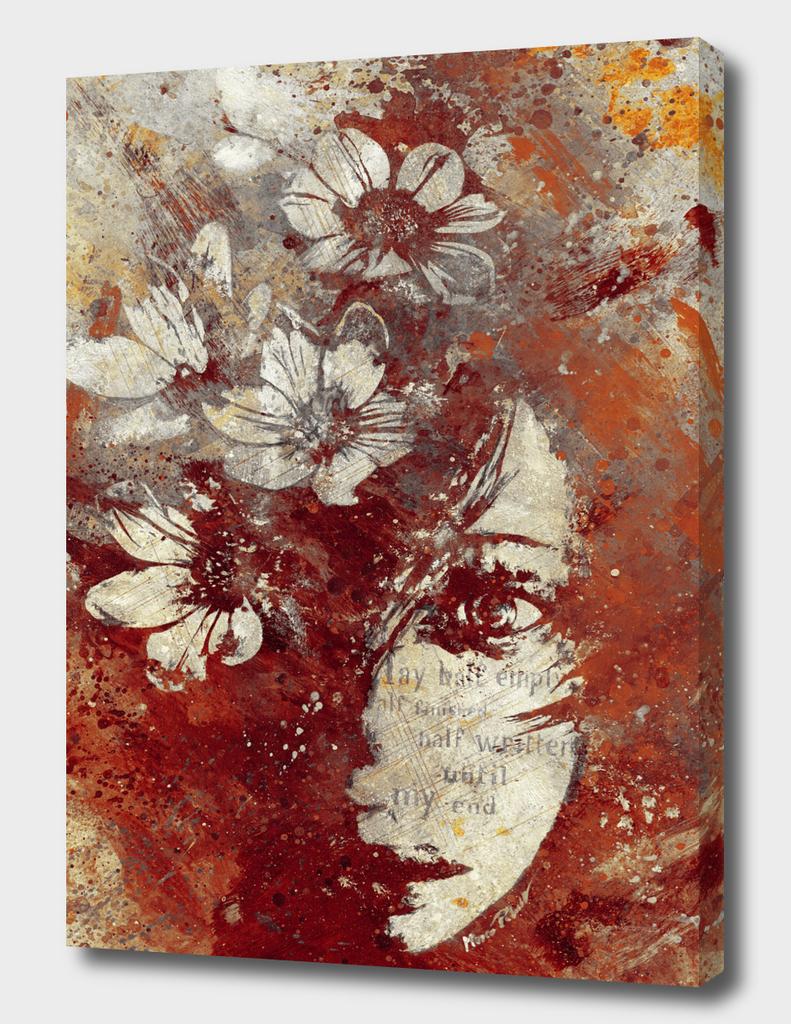 My Great Devastator II: Burnt (Floral graffiti portrait)