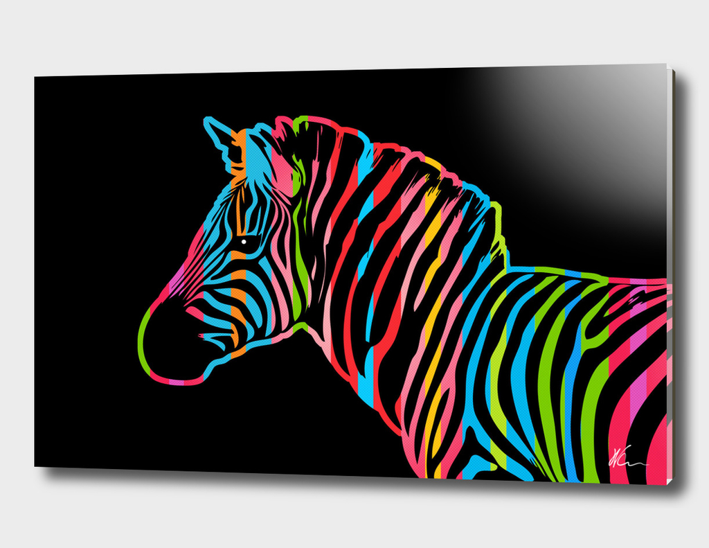 Zebra | Dark | Pop Art