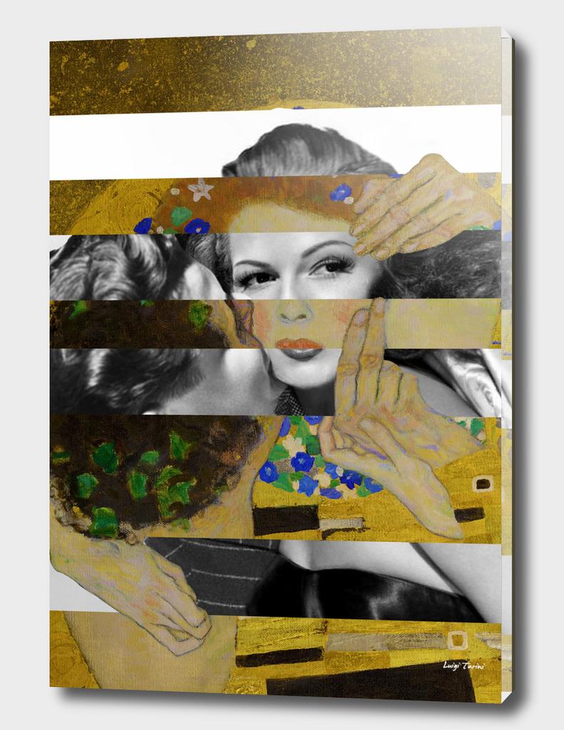 Klimt's The Kiss & Rita Hayworth with Glenn Ford