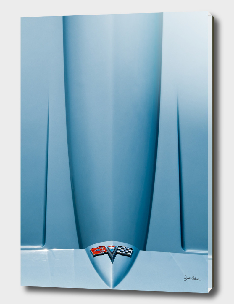 Classic Blue Corvette Hood