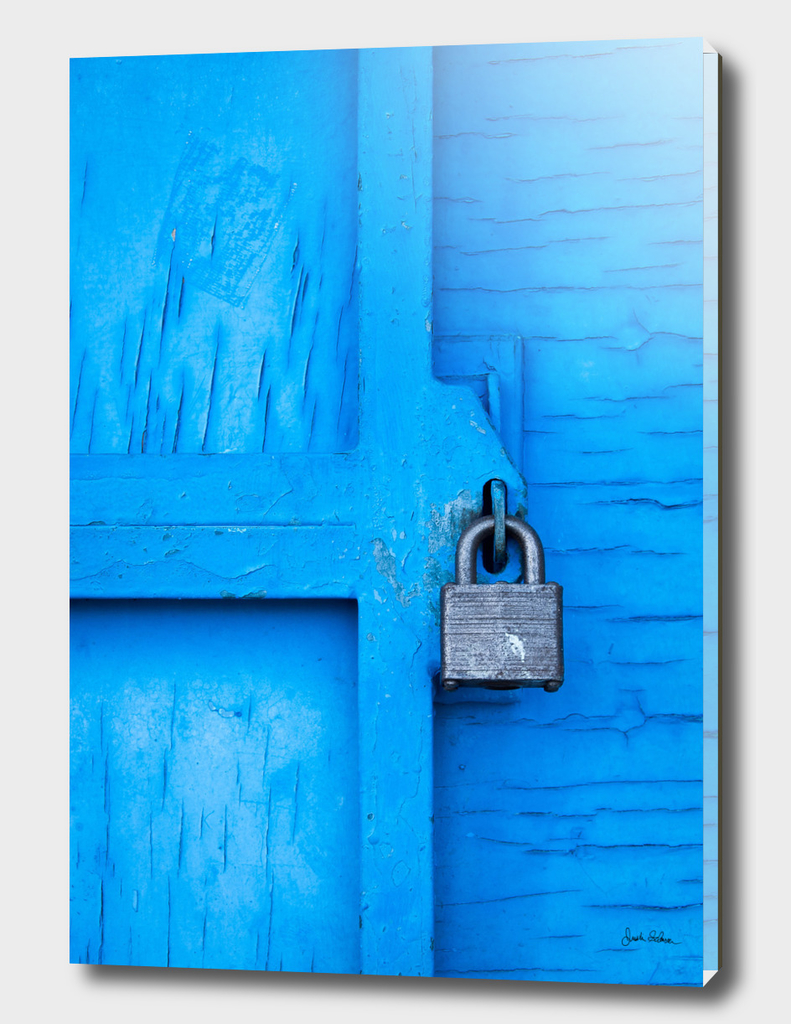 Lock on a Blue Door