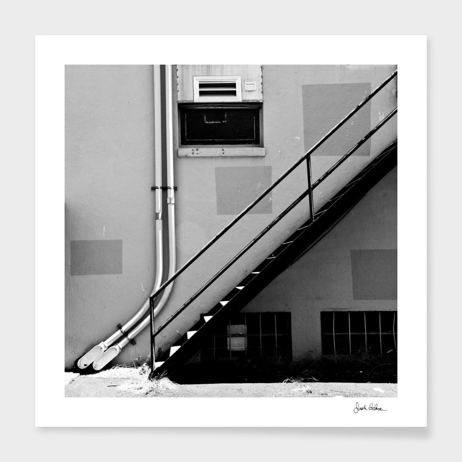 Urban Stairwell in Black and White