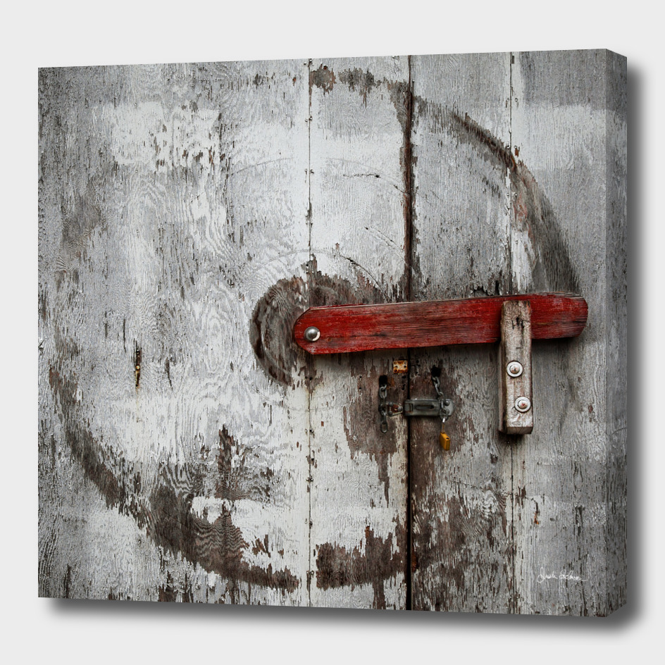 Barn Door with Wear Marks