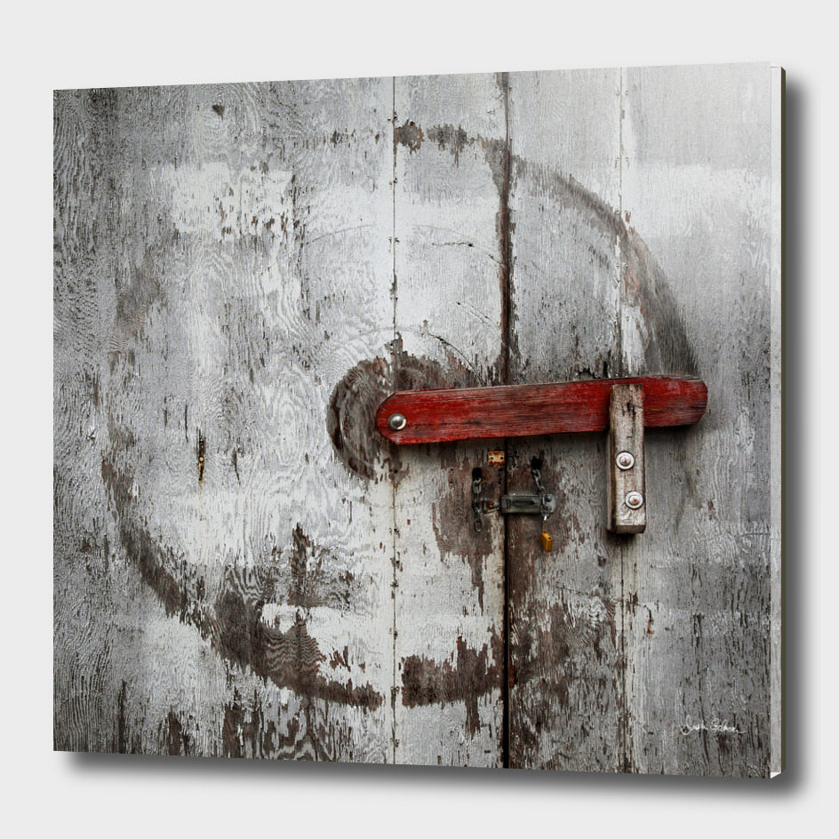 Barn Door with Wear Marks