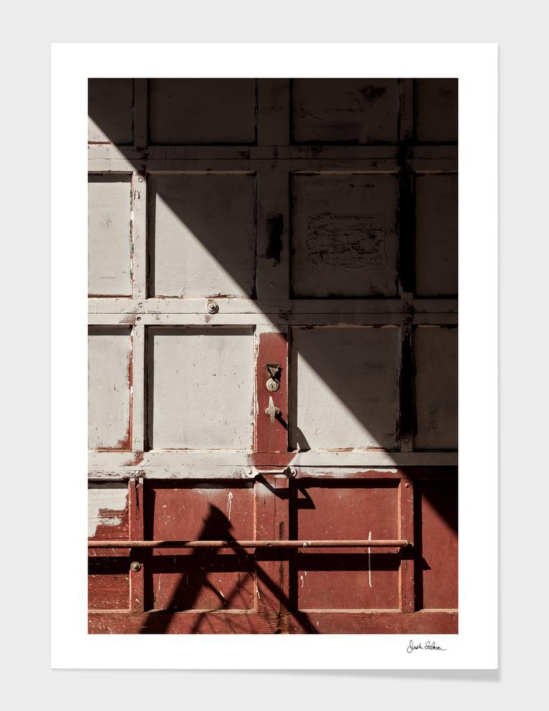 Unused Garage Door Abstract