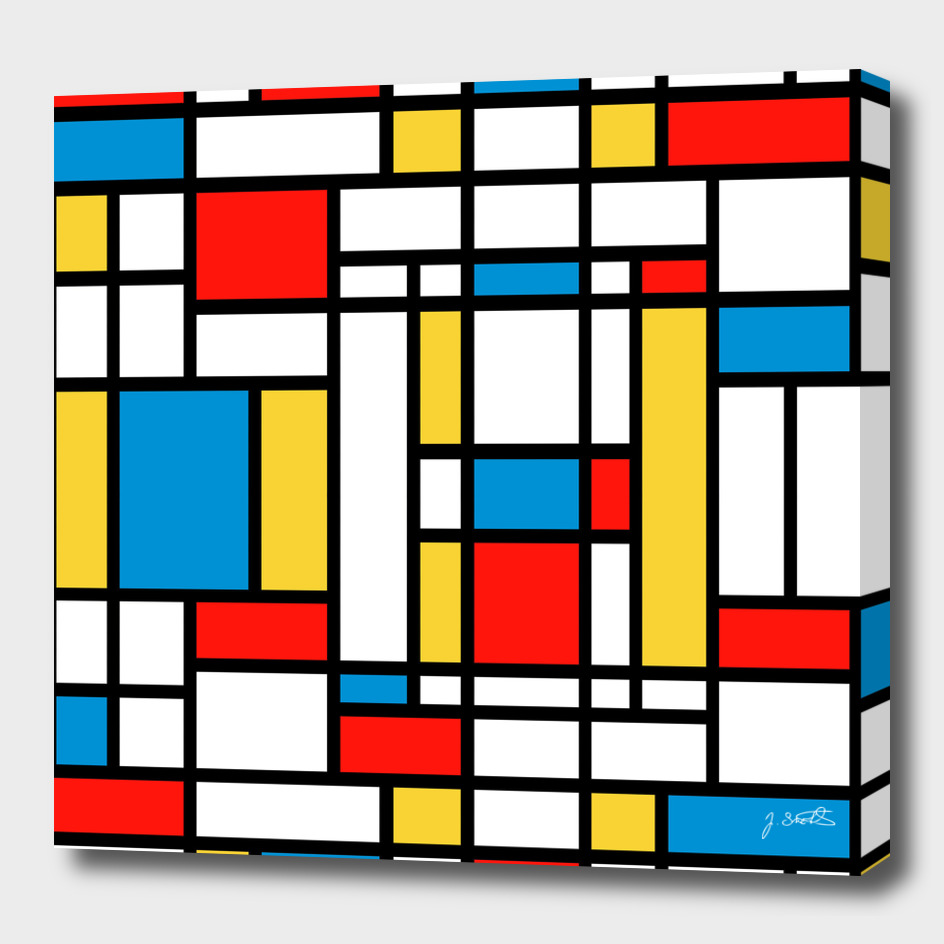 Tribute to Mondrian No2