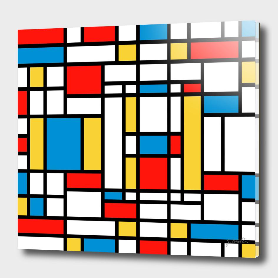 Tribute to Mondrian No2