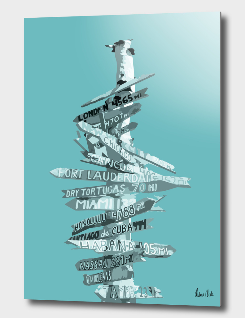 Graphic Art SIGNPOST | turquoise