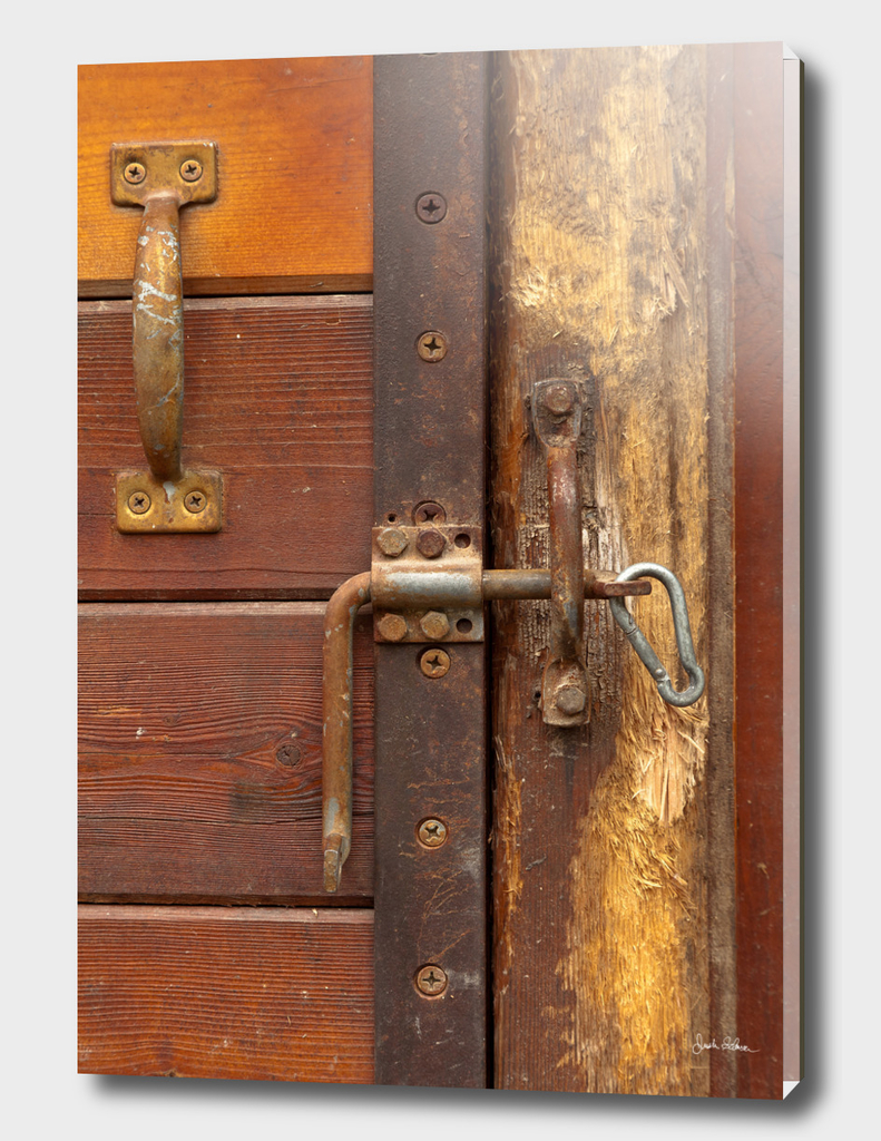 Wooden Stall Door Wear and Tear