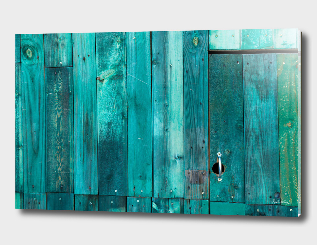 Turquoise Wooden Panels