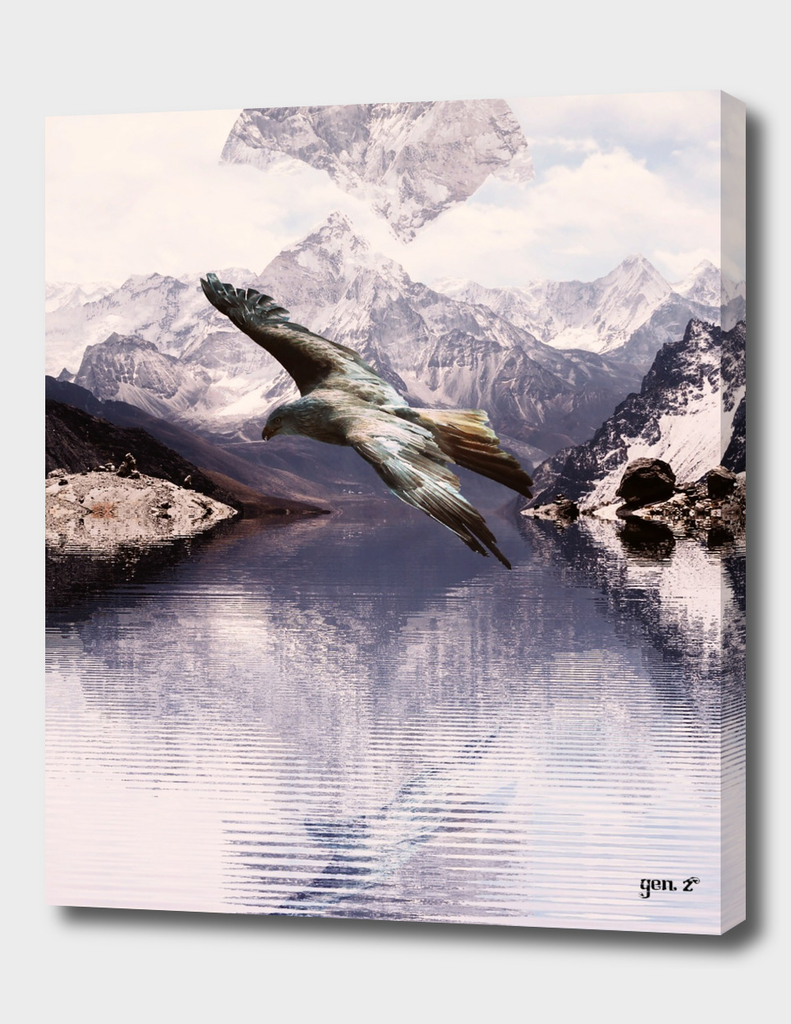 Raptor over a lake by GEN Z