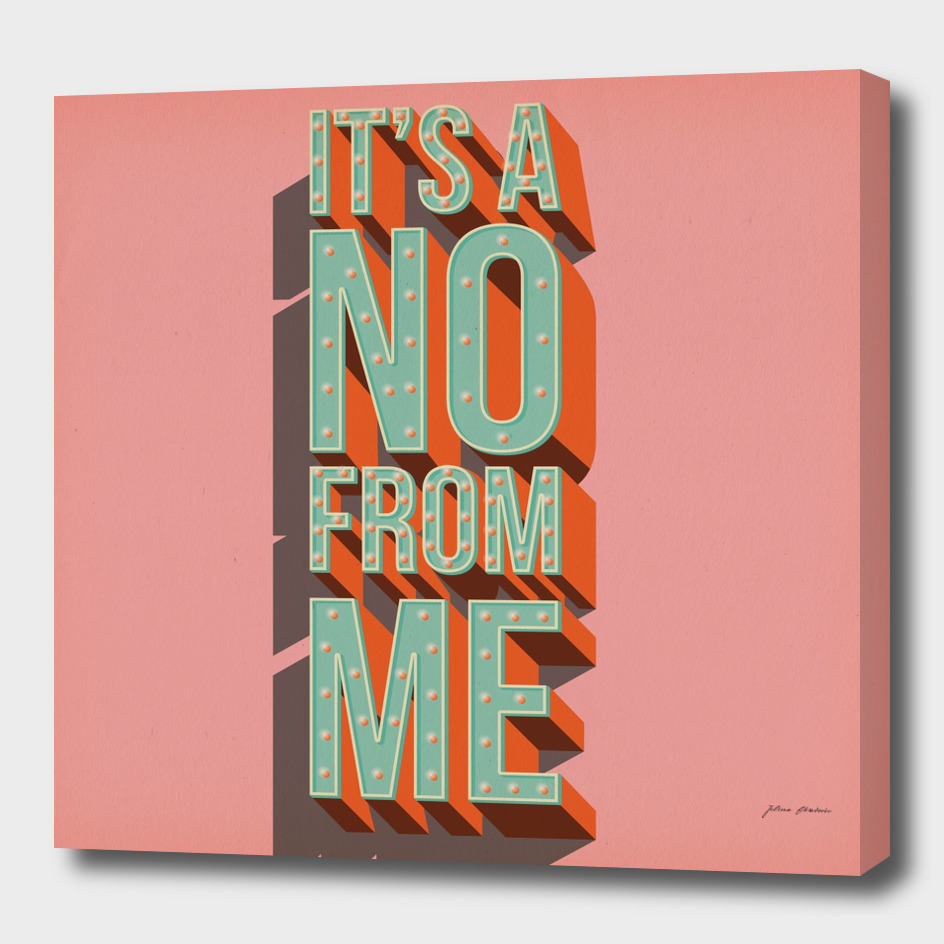 It's a no from me, typography poster design
