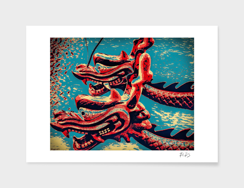 Dragon Boats - Pop Art Style