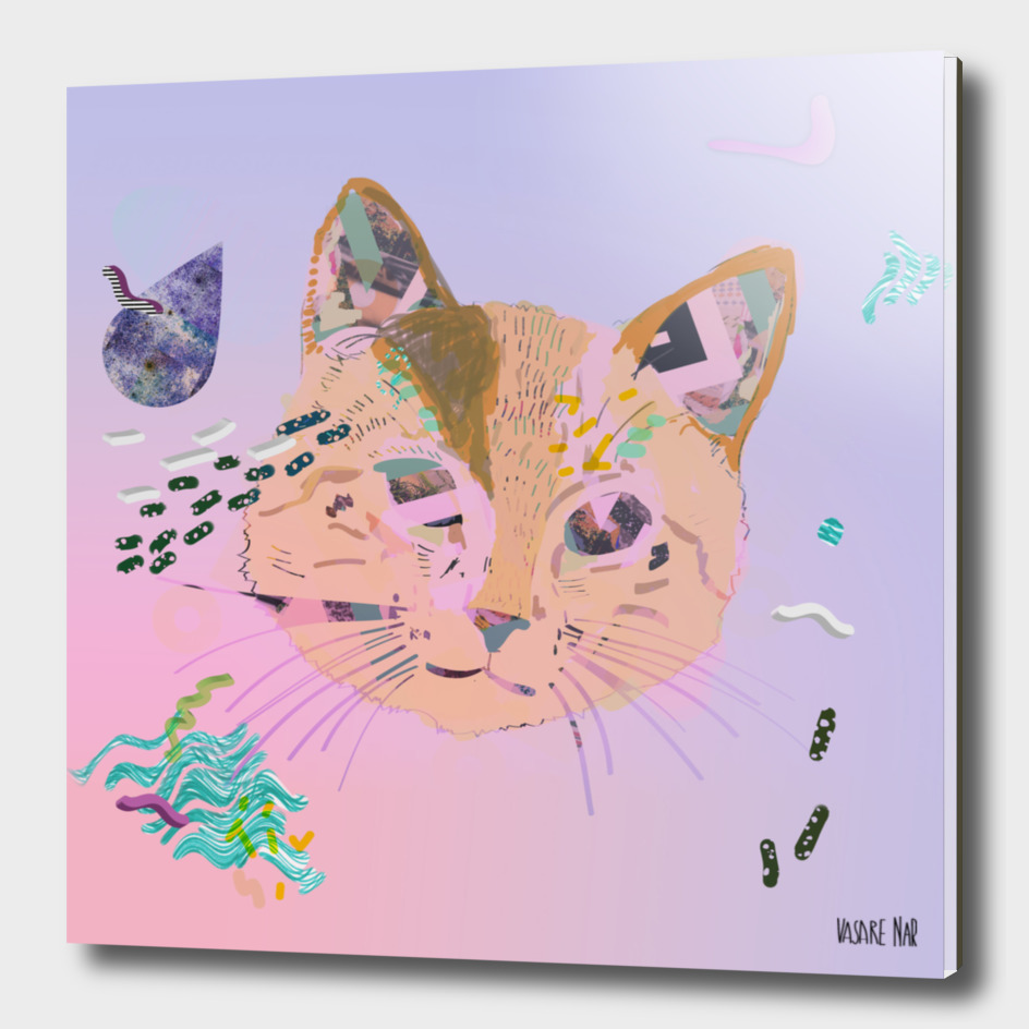Pastel Cat 3d