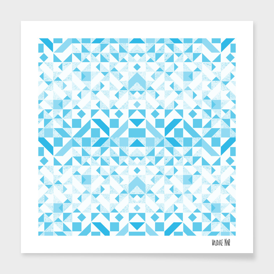 abstract  geometric blues