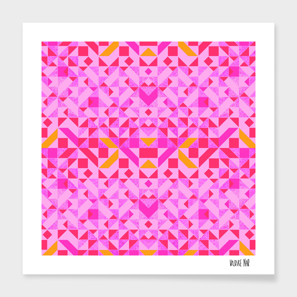 Abstract Geometric Candy Pink