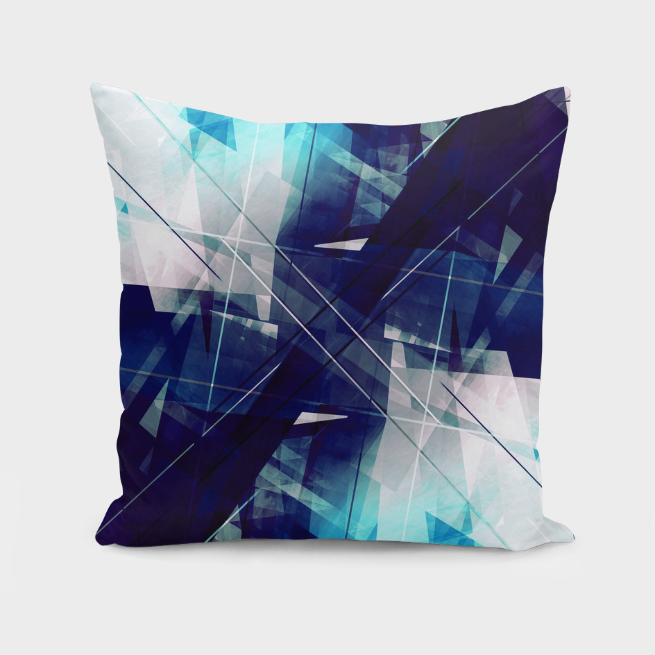 Shards of Blue - Geometric Abstract Art